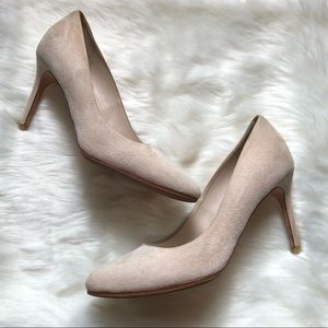 COLE HAAN Blush Pink Suede Eliza Pumps